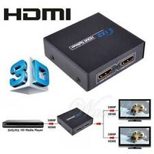 HDMI Splitter 1x2 Port Amplifier Repeater Full HD 3D 1080p Female Switch Box Hub