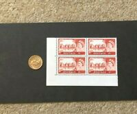 4 x Great Britain 5/- Shilling Postage Stamps Unused Elizabeth II Castle SG760