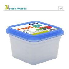 3pk 500ml Plastic BPA Free Square Food Container Storage Box Tub Lunch Set