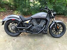 2017 Victory Octane Radiant Cycles Shorty GP Exhaust Dual Muffler Pipe 17 CHROME