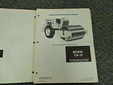 Dynapac Model CA15 Vibratory Compactor Owner Operator Maintenance Manual Book