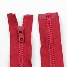 RED 10'' - 32'' INCH CHUNKY NO.5 OPEN END ZIPS PLASTIC SEW ON ZIPPER NZ1163