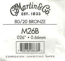 Martin & Co. - M26B - Corde à l'unité pour guitare acoustique - Bronze