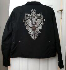 Valentine's Gift! Ladies Harley Davidson XL Jacket Embroidered Skull Zip Front