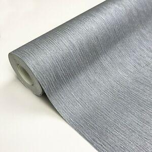 Exclusive Glitz Plain Dark Grey with Silver Glitter Vinyl Wallpaper (GL0011)