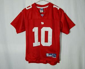 Eli Manning New York Giants NFL Football Jersey Red Reebok Youth Medium Clothing