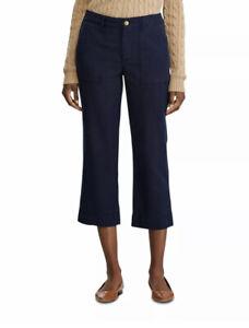 RALPH LAUREN Womens Navy Wide Leg Pants Size: 12
