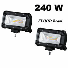 6in 240W Offroad LED Pods Work Driving Light Bar Flood Fog Race Truck UTV Pickup