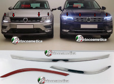 VW TIGUAN 2016> acciaio cromo 3 Cromature Adesive Cofano Fanali Modanature *****