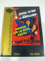 Murieron con las Botas Puestas Errol Flynn - Region 2 DVD Libro Español Ingles