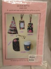 New Craft Pattern Eye Glass Case ID Tag Napkin Java Jacket Sewing Supply List