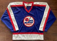Winnipeg Jets 1979-1990 CCM Hockey Jersey Large Vintage Maska NHL Retro VTG 80s
