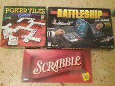 Brettspiele, Paket,Englisch,Scrabble,Battleship, Poker,