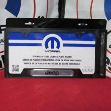 Jeep Cherokee Compass Patriot Satin Black License Plate Frame Mopar OEM