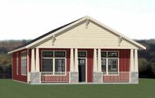 30x40 House -- 3 Bedroom 2 Bath -- 1,200 sq ft -- PDF Floor Plan -- Model 3