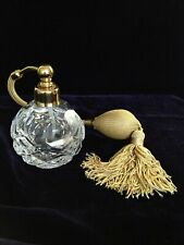 Vintage Clermont Cut Glass Crystal Atomizer Made In France
