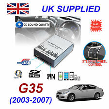 For Infiniti G35 MP3 SD USB CD AUX Input Audio Adapter CD Changer Module