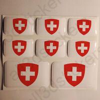 Pegatinas Suiza Escudo de Armas Pegatina Vinilo Adhesivo Resina 3D Relieve Coche