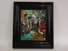 Belle Peinture sur Toile signée GIRARD, Maruis ? Paris Monmartre. Vers 1970