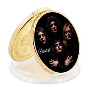 Queen Freddie Mercury Commemorative Metal Coin Art Ornament Birthday Gift