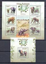 MOCAMBIQUE   ELEPHANTS 2  DIF BLOCKS  ** MNH  VF   @6