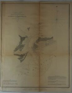 U.S. Coast Survey Map - ENTRANCE TO BARATATIA BAY, LOUISIANA - Bauche - 1853