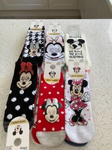 Primark Ladies Girls Disney Socks Trainers Socks Shoe Liners Mickey Mouse
