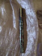 Parker vacuumatic red& blue striped fountain pen