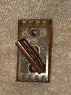 1 Antique Brass Ekado Victorian East Lake Doorknob Thumb Turn Lock Key Latch