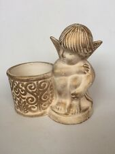 partylite Angel candle holder. Ceramic.