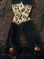 RARE Vintage Men's ELY Walker Big Buck SUSPENDER BACK Jeans Overalls       E012