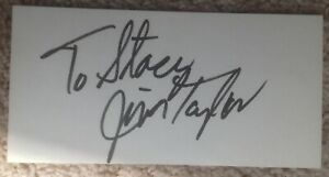 JIM TAYLOR Green Bay Packers Autographed Index Card NFL HOFer FREE SHIP