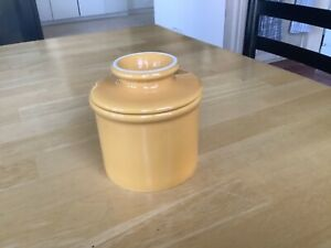 Original The Butter Bell Crock - L Tremain - Gold Yellow Butter Keeper