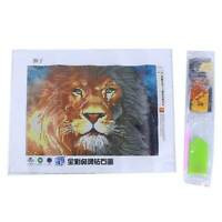 Animal Lion 5D Full Diamond Embroidery Painting DIY Cross Stitch Kits DD