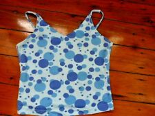 Ladies V neck Blue Bubble Top Size S