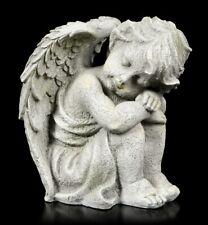 Engel Gartenfigur - Kind schlafend rechts - klein - Gartendeko Schutzengel