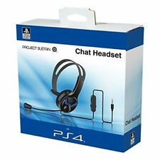 Official Ps4 Wired Chat Headset Overhead Design With Boom Microphone Speaker UK