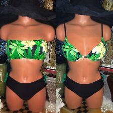 Vintage Venus Pad Push Up Sexy Swimsuit Lot A B Bandeau Strapless Bikini 10 M