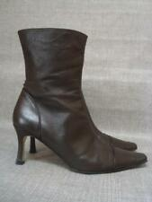 JASPER CONRAN UK 6 BROWN LEATHER HIGH ANKLE BOOTS