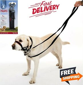 Double Ended Halti Training Lead For Dog, Head Collar and No Pull Harness, Black