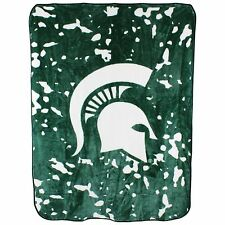 Michigan State Spartans College Covers 63 x 86 Soft Raschel Plush Throw Blanket