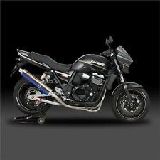 Yoshimura Completo Sistema De Escape Kawasaki zrx1200 N S R 2007 Titanio Azul Cyclone