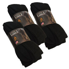 Magnum DC-1 Large Crew Socks 9-Pair Value Pack, USA Made, Black, Free Shipping!