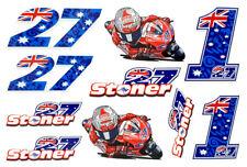 Kit adesivi 27 G CASEY STONER adesivo stickers motogp