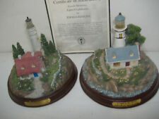 New Listing2 Thomas Kinkade Lighthouses Clearing Storms, A Light in the Storm, Battery Op.