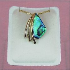 Paua Jewelry - Gold Plated Necklace (PGP863)