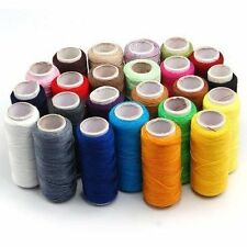 Sewing Thread Cotton Machine x24 Colour Yarn All Reel Spools Pure Line Quality