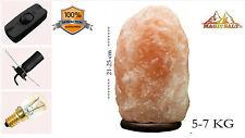 Himalayan Pink Salt Rock Crystal Lamp 5-7kg Natural Healing Special Dimmer Cable