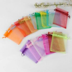 Drawable Organza Bags Pouches Mixed Color Wedding Christmas Gift Jewelry Packing