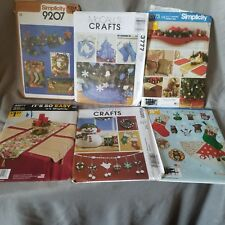 6 Sewing Patterns Uncut Simplicity McCall's Christmas Holiday Tree Skirt Wreath